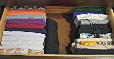 Хранение постельного белья по методу КонМари