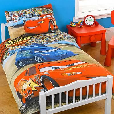 Комплект постельного белья с машинками