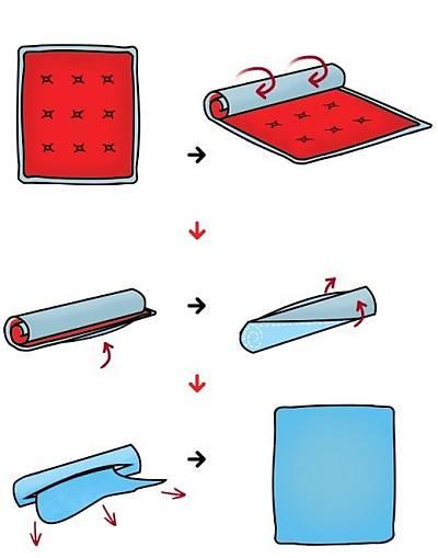 Как быстро одеть пододеяльник на одеяло