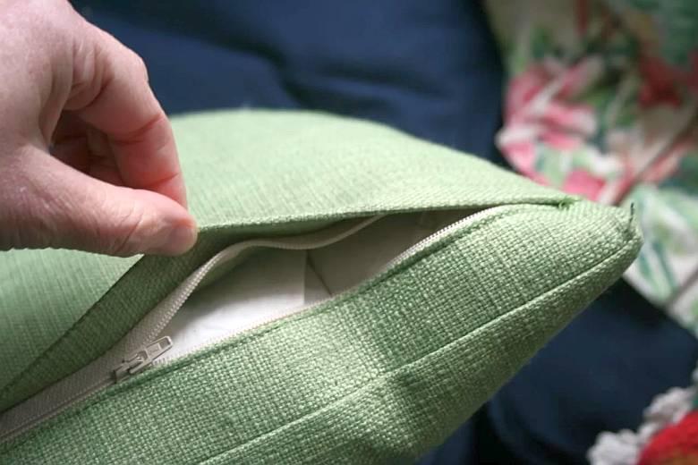 Как вшить потайную молнию в наволочку для подушки