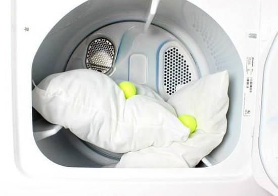 Фото: стирки бамбуковой подушки в стиральной машине