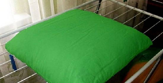 Фото: как правильно сушить подушку из бамбука