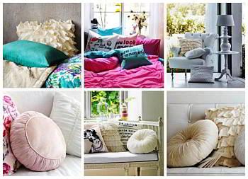 Фото: виды декоративных подушек