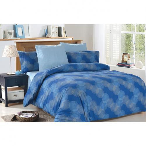 Комплект постельного белья семейный Amore Mio, Clement, синий
