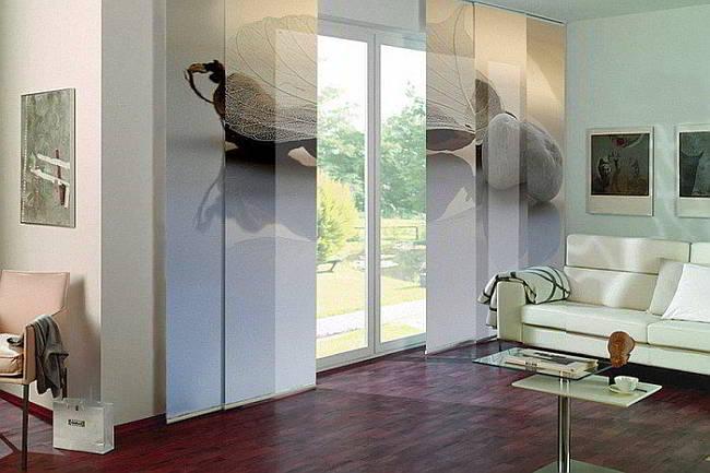 Японские шторы с 3 д эффектом
