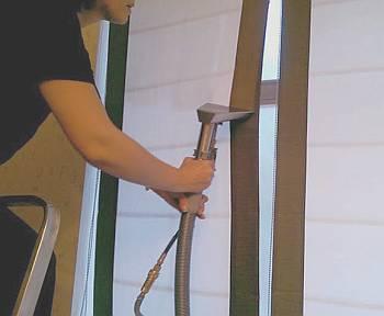 Сухая чистка рулонных штор